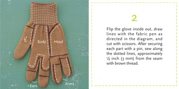 Chipmunk glove