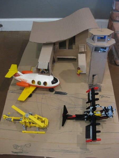 cardboard airport craft