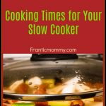 Crockpot Revisited : Cooking Times for Your Slow Cooker