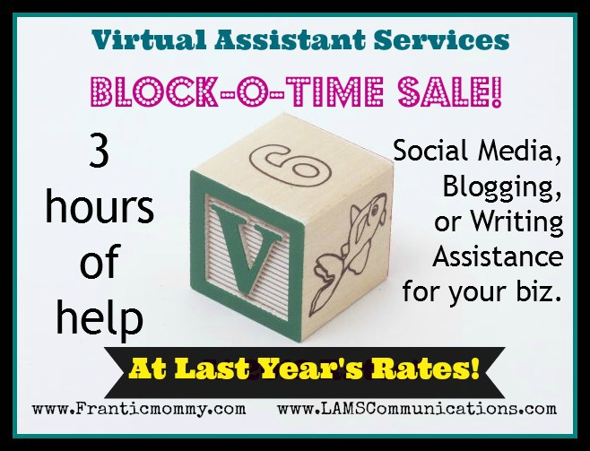 Virtual Assistant block of time sale