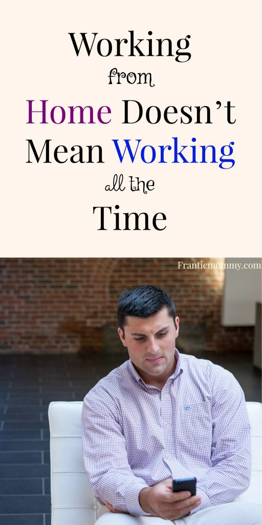 WAHM Tip Thursday: Working From Home Doesn't Mean Working All The Time