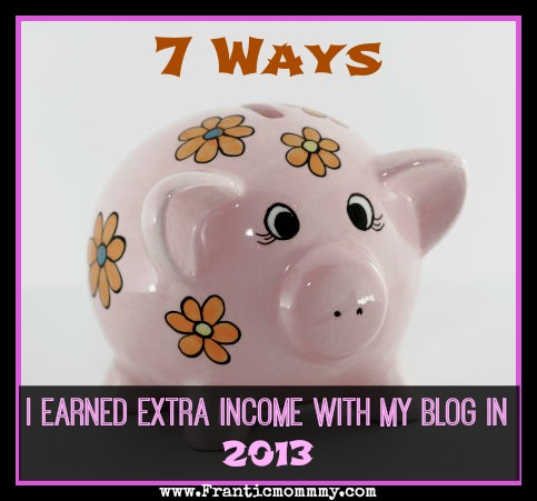 7 Ways I Earned Extra Income with my Blog in 2013