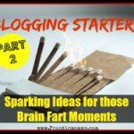 Blogging Starters: Sparking Ideas Part 2
