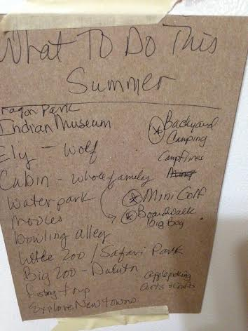 No Bummer Summer To Do List