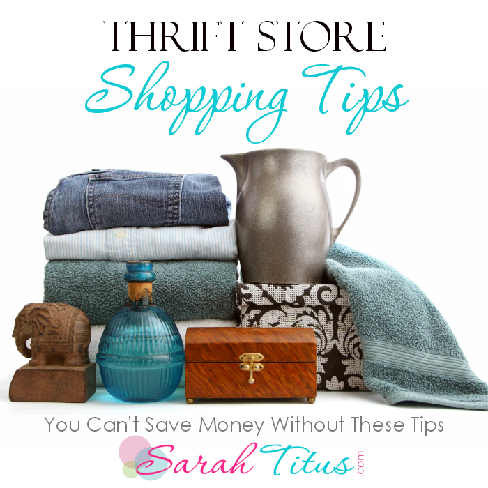Thrift Store Shop tips