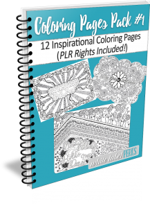 adult coloring plr