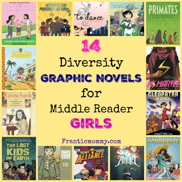 14 Diversity Graphic Novels for Middle Reader Girls -