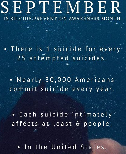 Suicide Prevention Awareness Month Resources #YouAreNotAlone