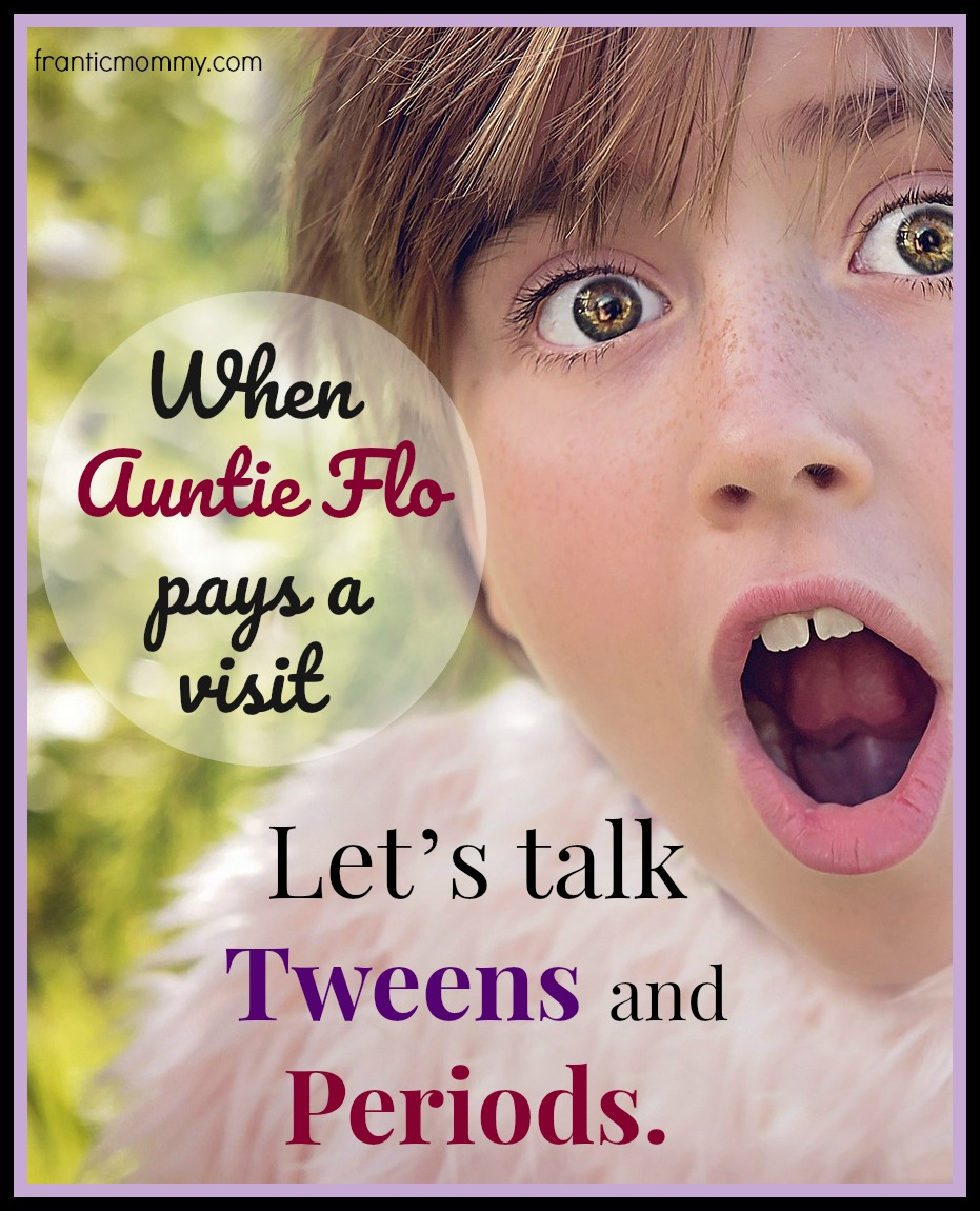 When Aunt Flo pays a visit | Let's talk Tweens and Periods #momlife