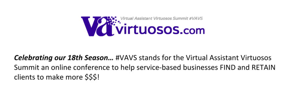 #VAVS Virtual Assistant Virtuosos Summit