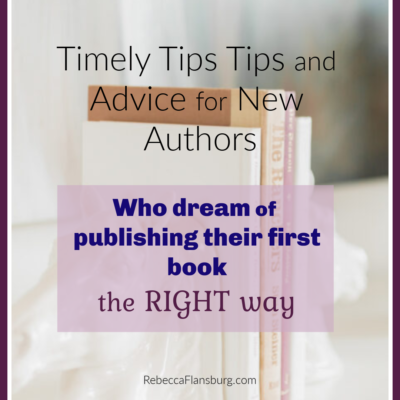 Tips and Advice for New Authors: Version 4.25