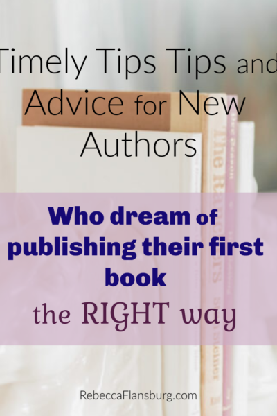 Tips for new authors